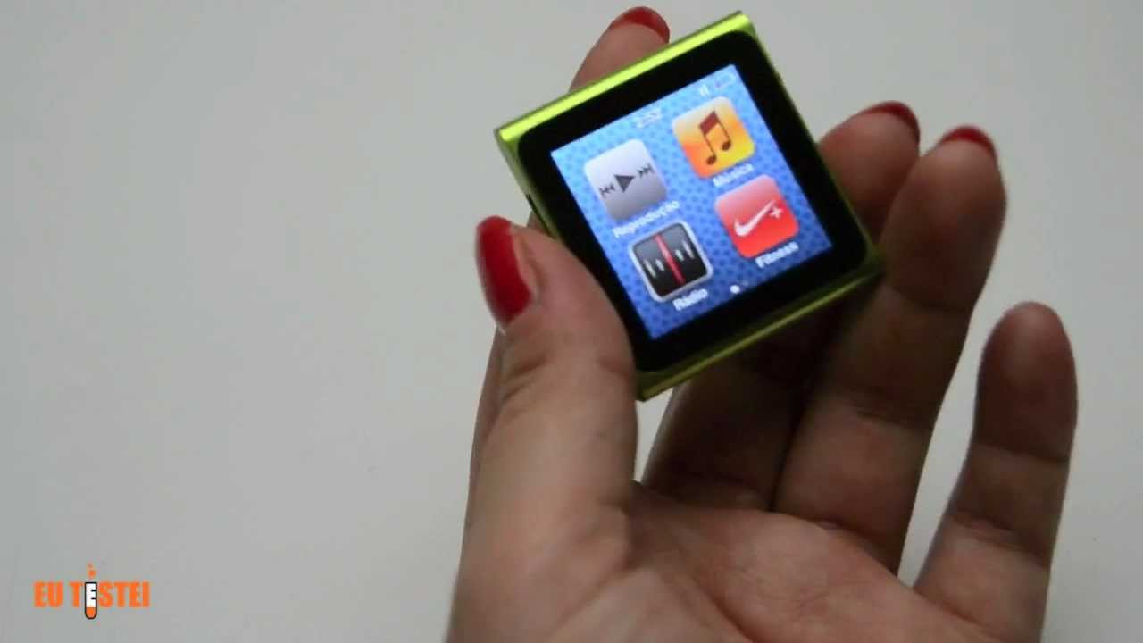 mp3 player apple ipod nano 6g 8gb mc5252y a resenha brasil youtube. Black Bedroom Furniture Sets. Home Design Ideas