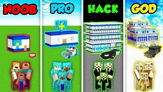 Minecraft NOOB vs. PRO vs. HACKER vs. GOD: FAMILY POLICE STATION in Minecraft! (Animation)