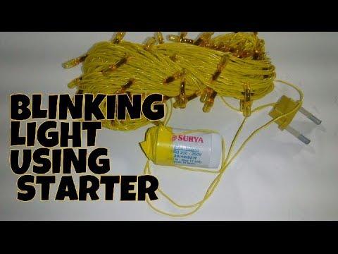 Blinking Automatic decorative light for festival using tube light starter.