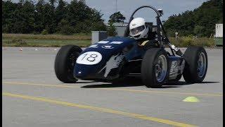 Studerende tester racerbil på Flyvestation Aalborg