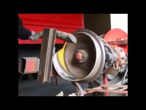 DIY log splitter made out of car parts!