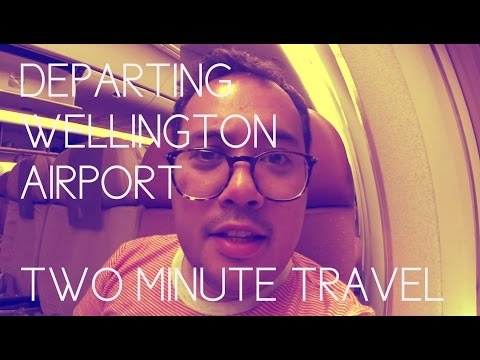 Departing Wellington Airport with Singapore Airlines - Two Minute Travel