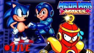 We Play Your MegaMAN Maker Levels LIVE! #41