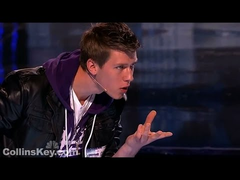 Americas Got Talent TEEN MAGICIAN'S EMOTIONAL FIRST AUDITION | Collins Key First Audition