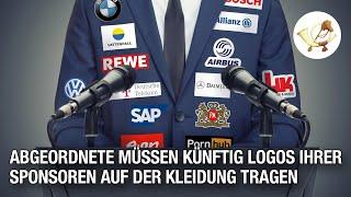 Abgeordnete müssen künftig Logos ihrer Sponsoren auf der Kleidung tragen