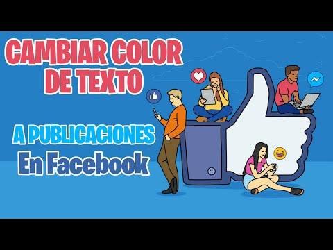 Como Cambiar El Color De Letra De Facebook
