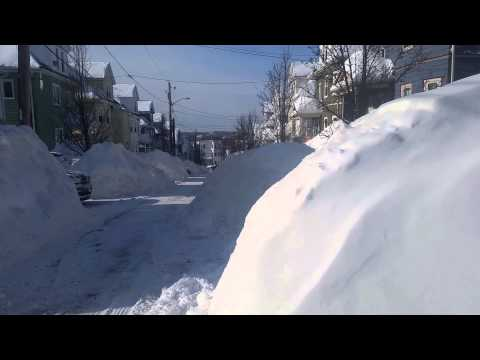 Everett, MA  Snowfall  2/15/15