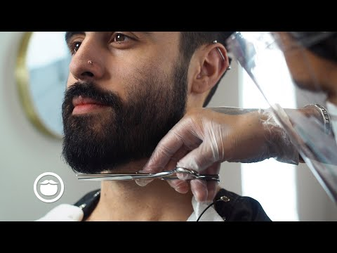 Thick Hair & Beard Gets First Cut In Months | Bob The Barber
