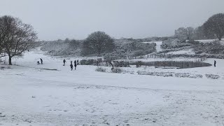 video: Storm Darcy: Heavy snow brings chaos to South East