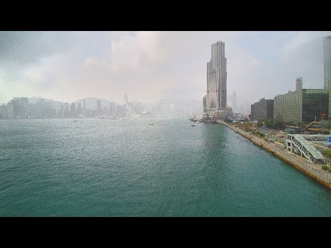 Hong Kong drone flight over Kowloon waterfront - Yuneec Typhoon H