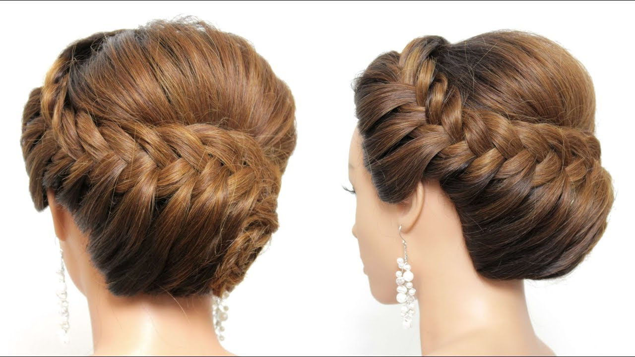 New Hairstyle For Girls. Wedding Party Updo Tutorial