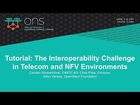 Tutorial: The Interoperability Challenge in Telecom and NFV Environments