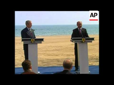 Joint news conference by Presidents Bush and Basescu
