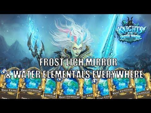 Wild Reno Mage - Two Frost Lich Jaina's results in dozens Water Elementals in Hearthstone