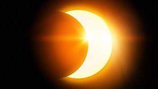 Смотреть видео Частичное солнечное затмение. Москва, 2015 год. онлайн