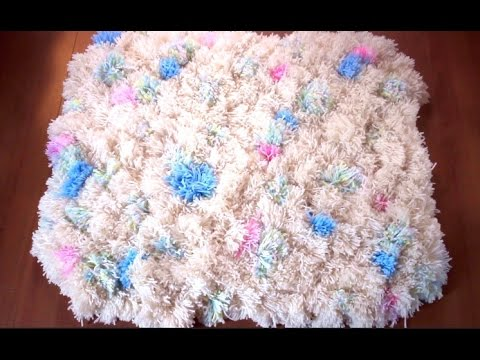 diy pom pom rug youtube. Black Bedroom Furniture Sets. Home Design Ideas
