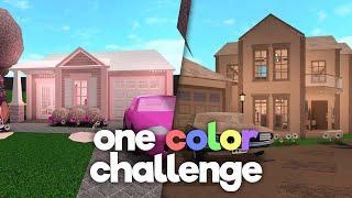 ONE COLOR build off challenge w/ frenchrxses (bloxburg)