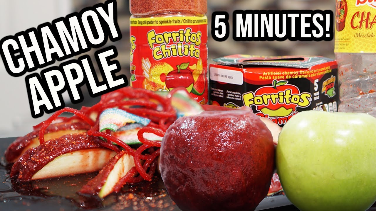 How to Make Chamoy Apple in 5 Minutes! | Hungry Ant
