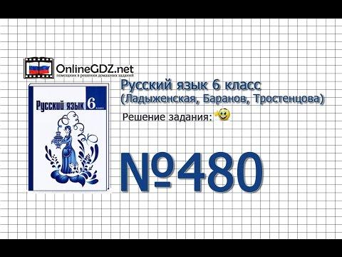 Задание № 480 — Русский язык 6 класс (Ладыженская, Баранов, Тростенцова)