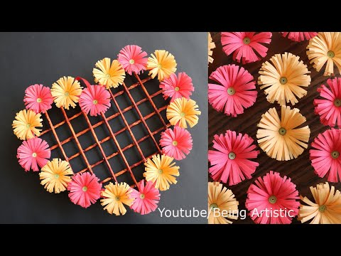 paper-heart-wall-hanging---easy-wall-decoration-ideas---paper-craft---diy-wall-decor