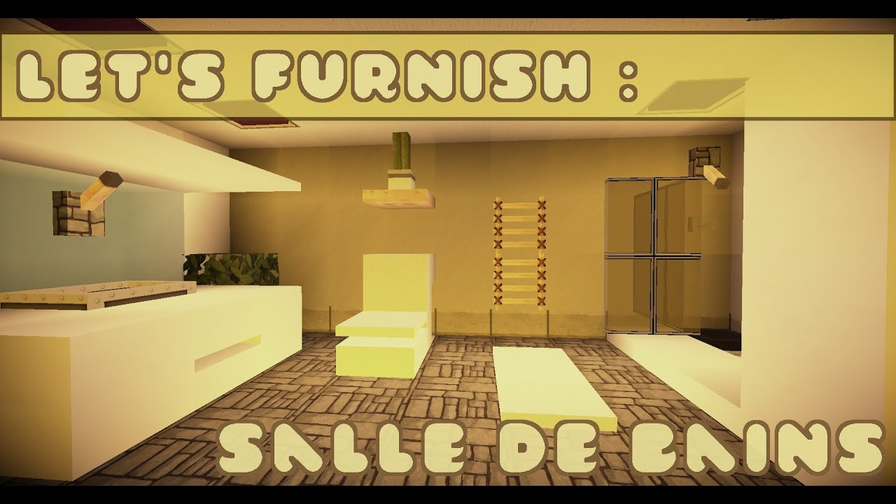 Minecraft let 39 s furnish tuto salle de bain youtube for Salle de bain de luxe moderne