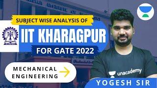 Subject Wise Analysis | IIT Kharagpur | Gate-2022 | Yogesh Tyagi