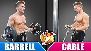 Barbell Curl VS Cable Curl | Which Builds BIGGER Biceps Faster?
