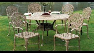 Cast Aluminum Patio Furniture~Cast Aluminum Patio Table And Chairs