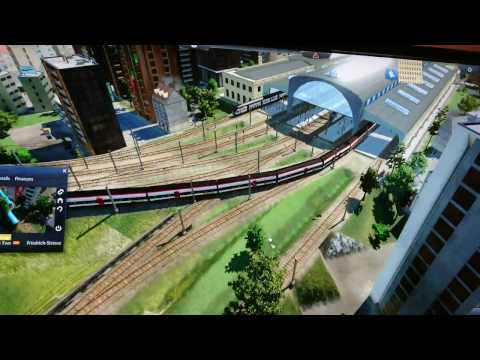 Elevated Train & Metro System in the big city | camera ride | Transport Fever