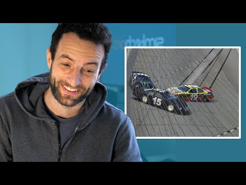 Race Driver Reacts To SIM RACING SHUNTS