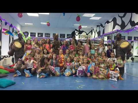 Шоу барабанов и танцы  - Детский гавайский новый год 2017