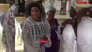 Toyin Abraham's Son, Baby Ire Goes To Church