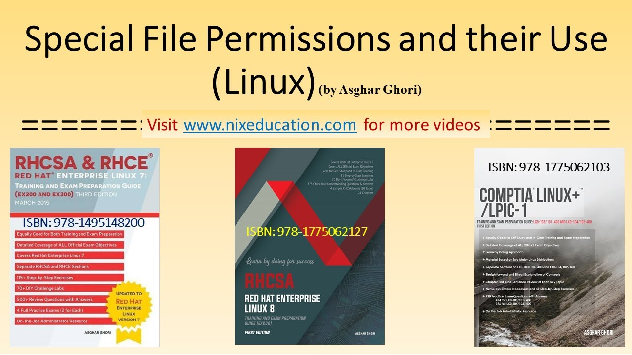Special Linux File permissions...