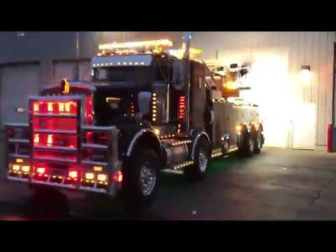 LIGHTS - 2018 Century 1075S HD Rotator Wrecker, KW W900 Twin Steer
