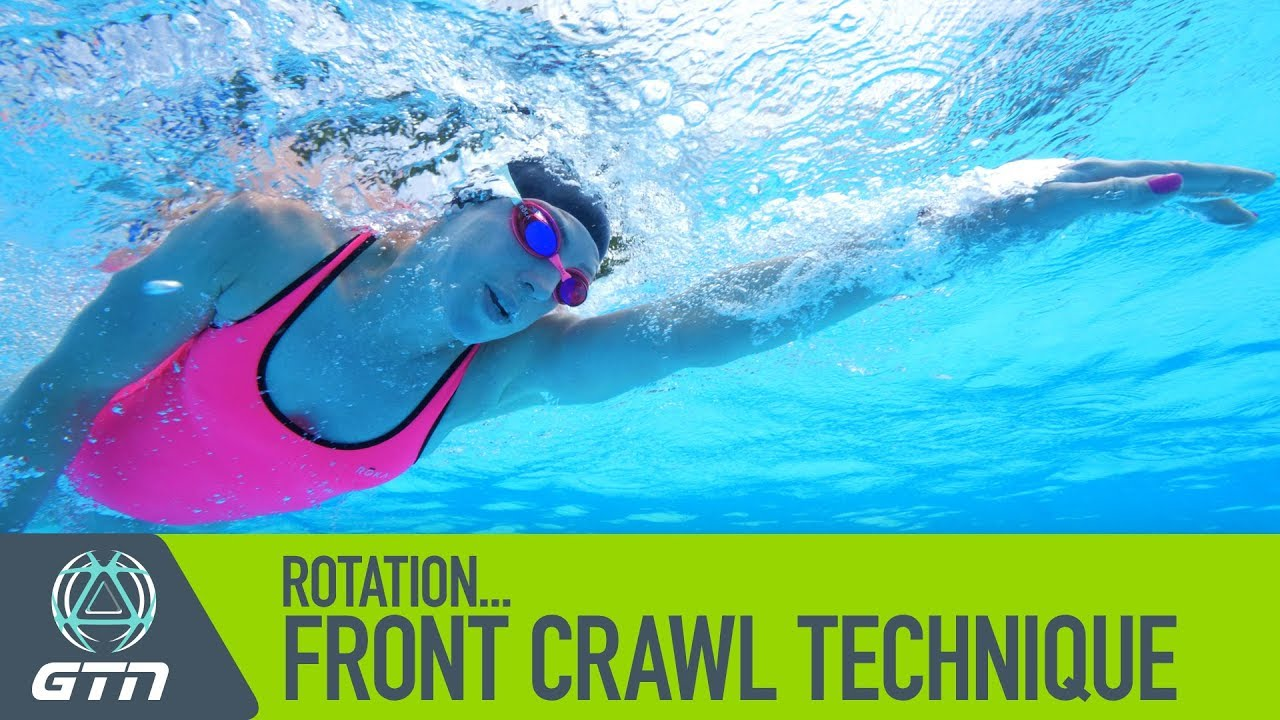 rotation how to swim front crawl freestyle swimming technique [ 1280 x 720 Pixel ]