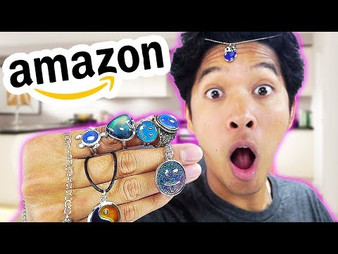 $5 Amazon Mood Rings And Bracelets Review!!!
