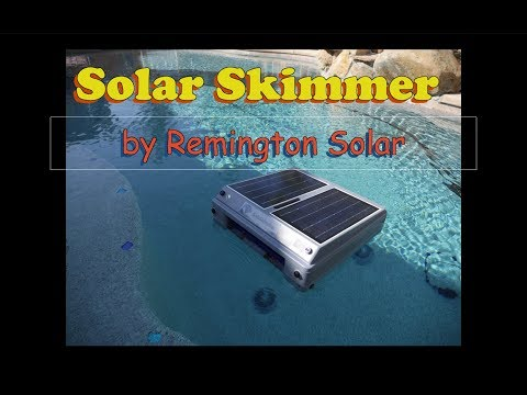 SolaSkimmer Robotic Solar Powered Robotic Skimmer!!!