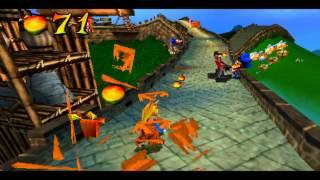 Crash Bandicoot Warped: Level 03 - Orient Express - Crystal + Box Gem