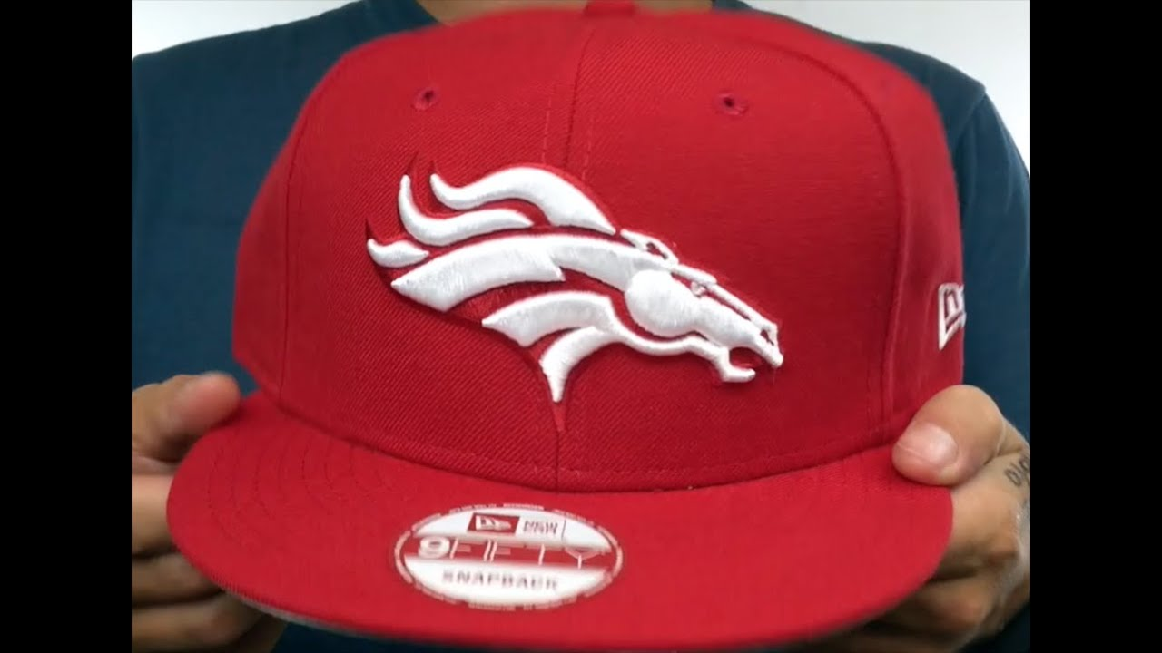 88addce01 Broncos  TEAM-BASIC SNAPBACK  Red-White Hat by New Era - YouTube