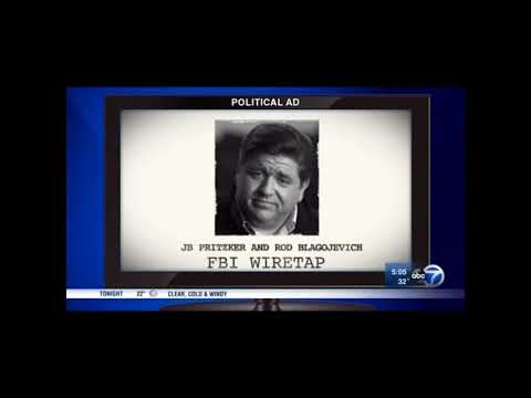 ABC 7 report on Pritzker Blagojevich Wiretap Ad | Bruce Rauner | Illinois