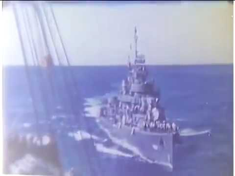 Rare color video of WWII Navy Destroyers