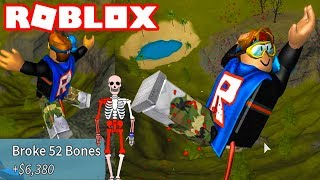 WE BROKE OUR BONES ON ROBLOX! ROBLOX BROKEN BONES IV | NEW ROBLOX BROKEN BONES GAME