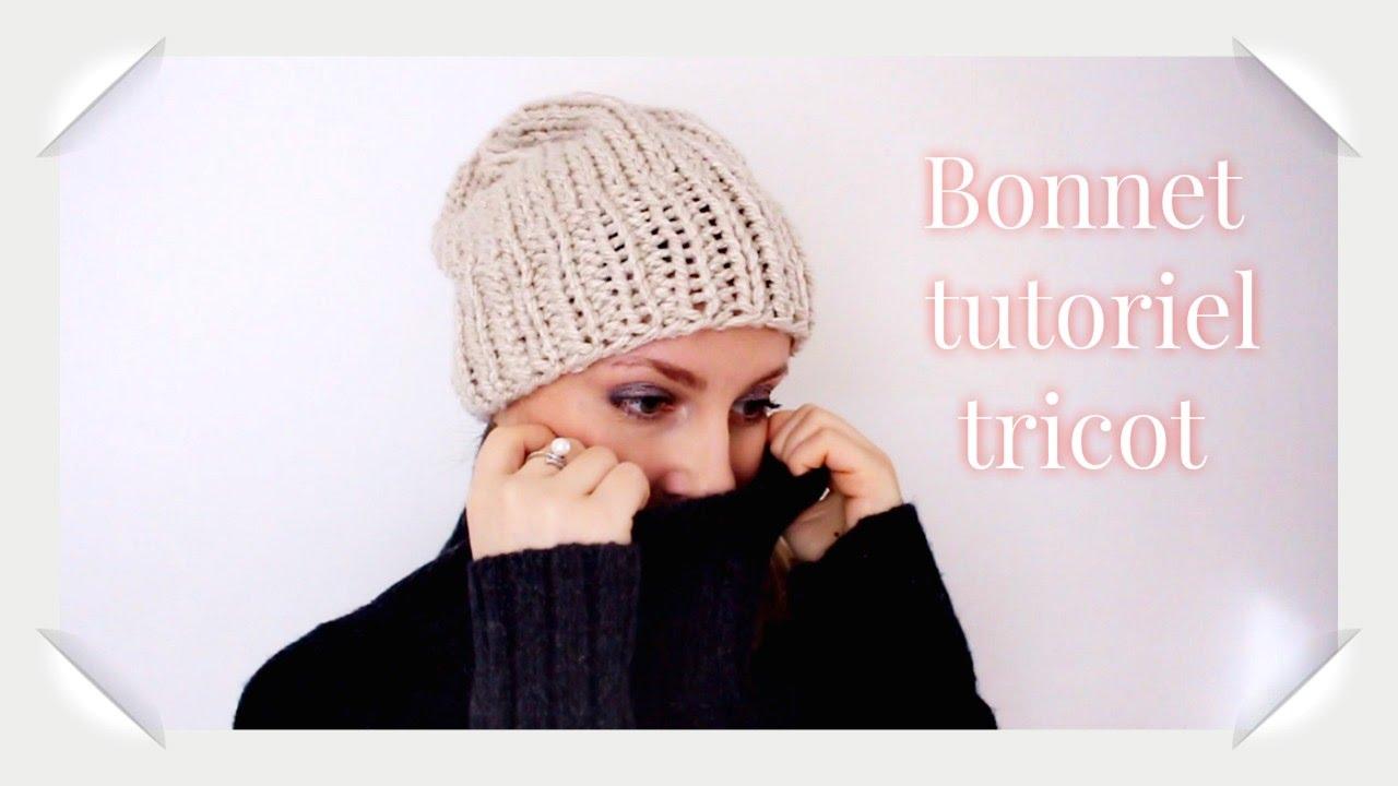 Bonnet adulte tutoriel tricot facile/ Berretto maglia adulto semplice  tutorial , YouTube