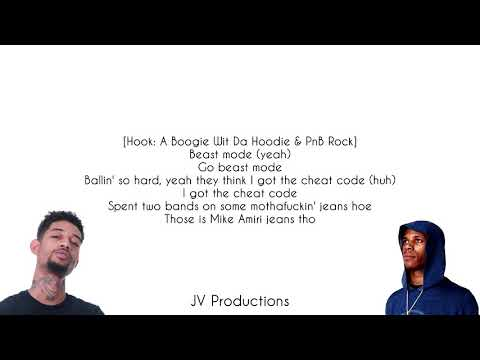 A Boogie Wit Da Hoodie  Beast Mode feat PnB Rock, NBA Youngboy Lyrics