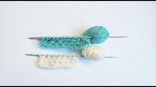 Вязание двойной протяжки на спицах – видео мастер класса для начинающих/Knitting double broach.