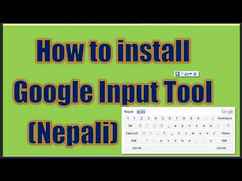 install google input tools tamil
