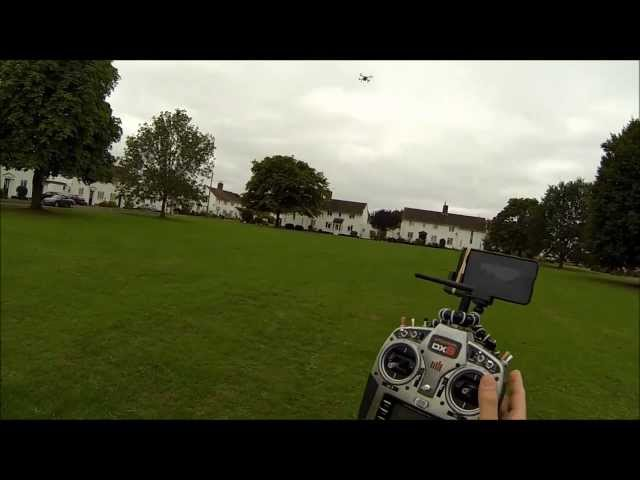 Blade 350 QX quadcopter - flight modes demo SMART, Stability and Agility with RTH autoland