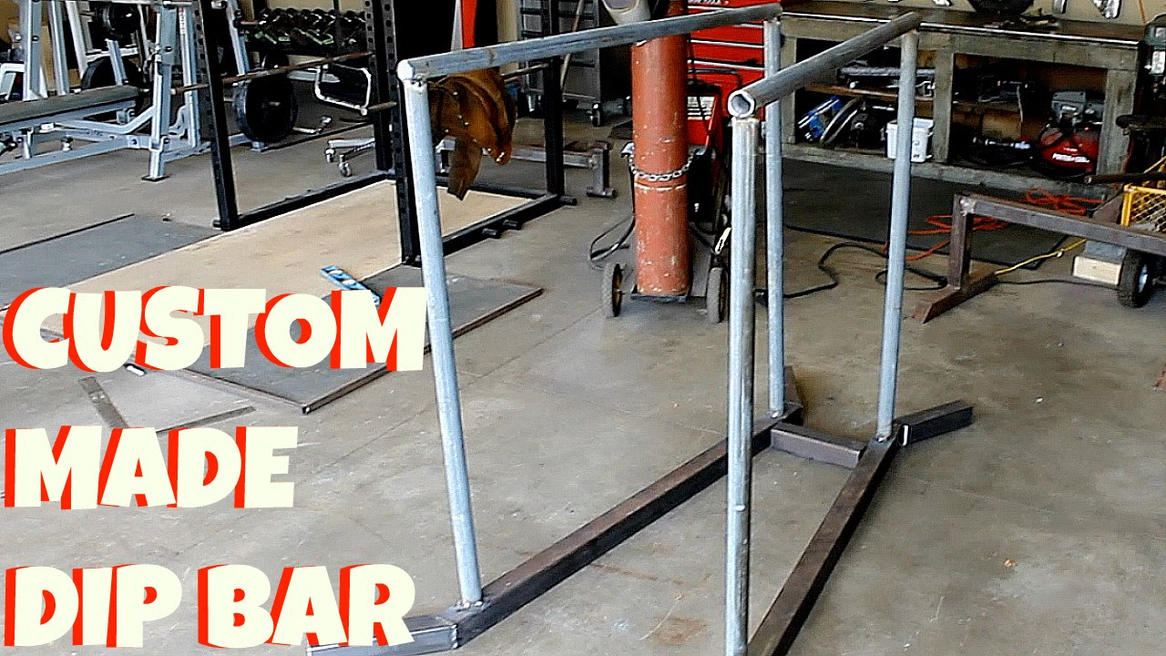 Homemade dip station what you ll need garage gym builder home