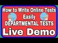 DEPARTMENTAL TESTS ONLINE EXAM DEMO