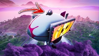 How to get ON TOP of the BLIMPS by using this Fortnite Glitch! Stay on the BLIMP! (Season 9 Glitch)